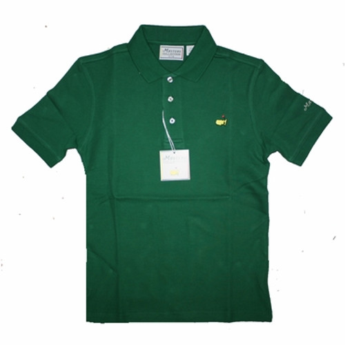 Masters Youth Green Golf Polo