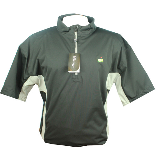 Masters Black & Grey Performance Short Sleeve Wind Shirt