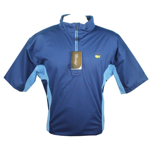 Masters Navy & Carolina Blue Performance Short Sleeve Wind Shirt