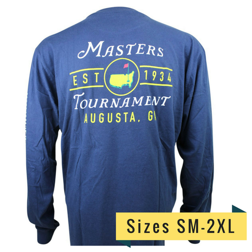 2018 Masters Long Sleeve Navy T-Shirt