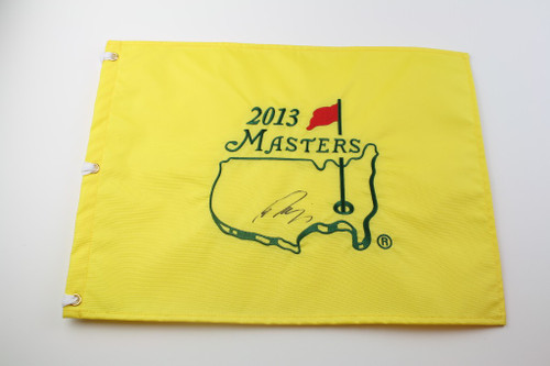 Rory McIlroy Autographed 2013 US Open Merion Red Screen Print Flag