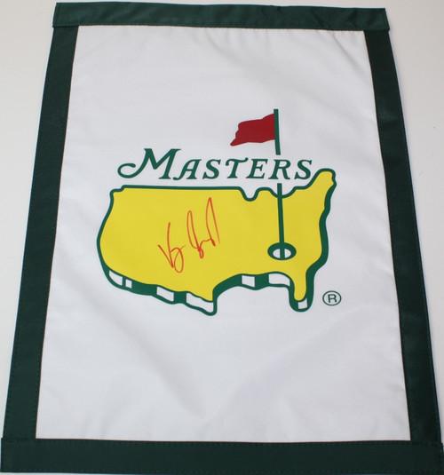 2013 Masters Flag - Autographed by Matteo Manassero