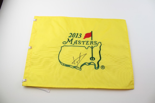 2013 Masters Flag - Autographed by Luke Donald