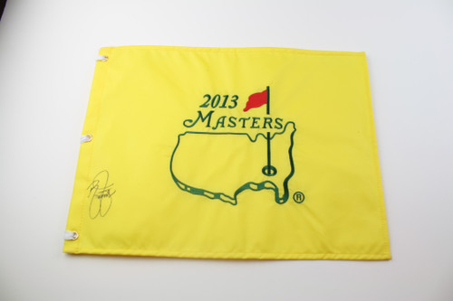 2013 Masters Flag - Autographed by Lee Westwood