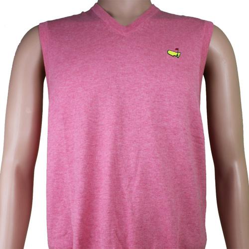 Men's Masters Pink V Neck Sweater Vest