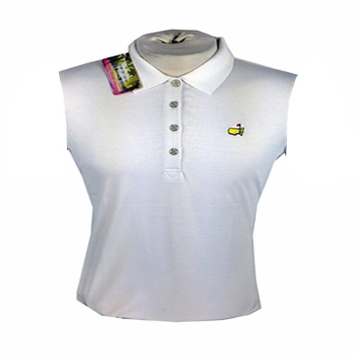 Masters Ladies Tech Sleeveless Polo - White - Sold As Is