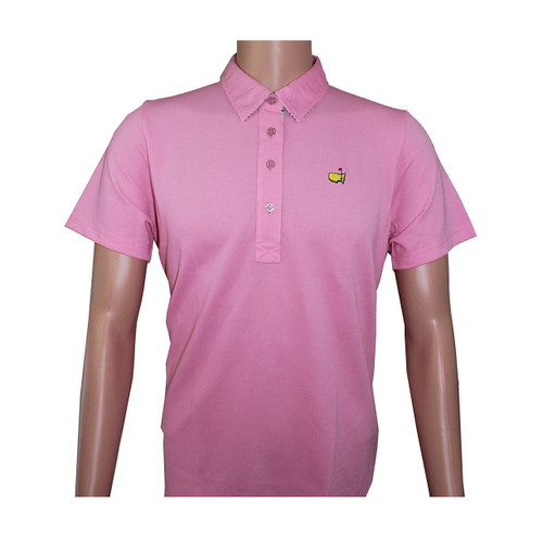 Masters Magnolia Lane Pink Cotton Golf Shirt