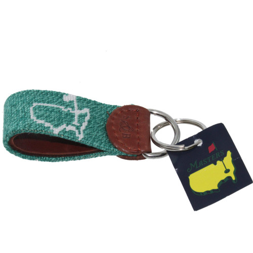 Masters Heather Green Smathers & Branson Stitched Key Fob