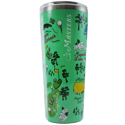 Masters Augusta National Golf Course Map 24oz Corkcicle Tumbler