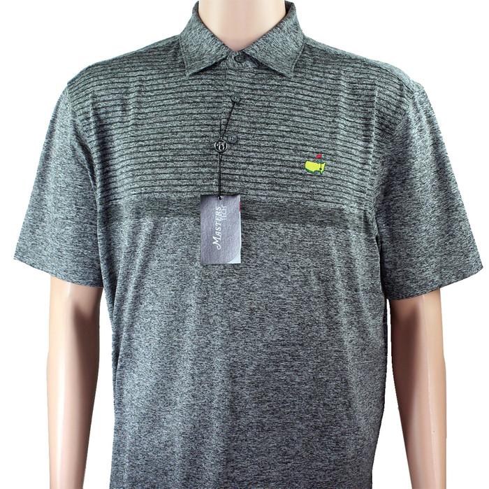 Masters Tech Golf Polo- Heathered Grey Pattern