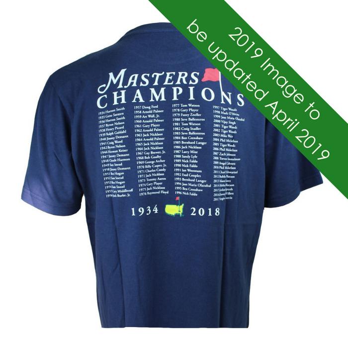 2019 Masters Champions T-Shirt - Navy