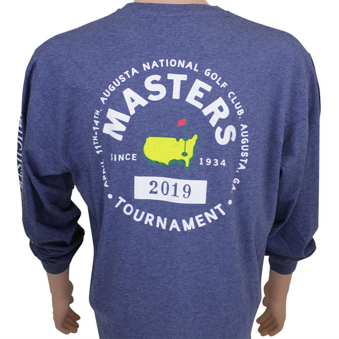 2019 Masters Long Sleeve Navy T-Shirt