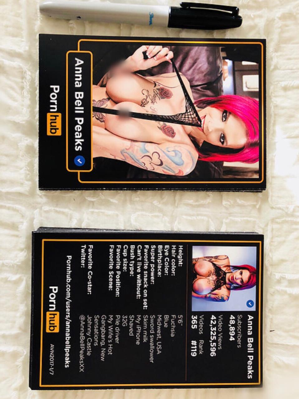 New Sensations Porn Hub limited edition trading card