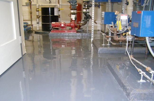 chemical production area floor