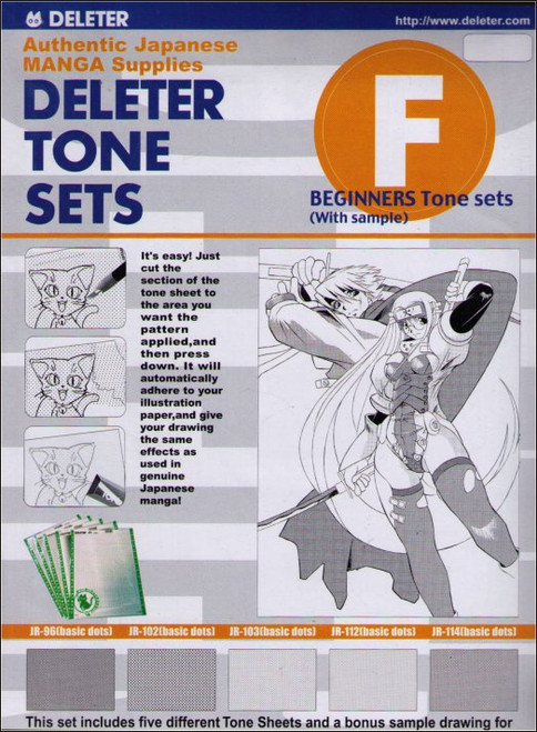 Deleter Tone Sets F Beginners Authentic Japanese Manga Supplies