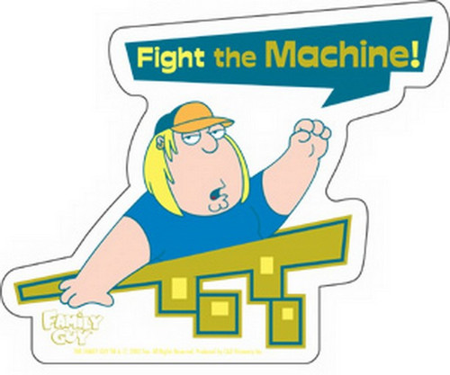 Family Guy Chris Fight The Machine Sticker S-FG-0008