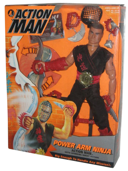 "Action Man Power Arm Ninja 12"" Kenner Vintage (1996) Figure w/ Spinning Wrist Action"