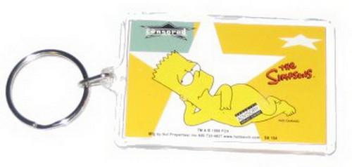 Simpsons Bart Star Lucite Keychain SK154
