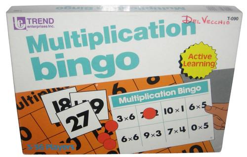 Multiplication Bingo (1987) Trend Active Learning Vintage Math Game - Complete!