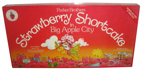Strawberry Shortcake In Big Apple City Parker Brothers Board Game