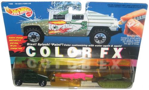 Hot Wheels Color Changers FX Military Machines Hummer & Big Bertha Car Set