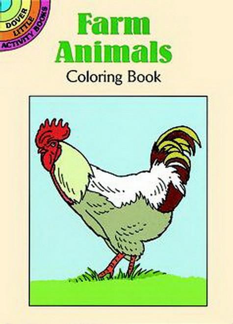 Farm Animals Pony Lamb Bunny Rabbit Chik Coloring Book