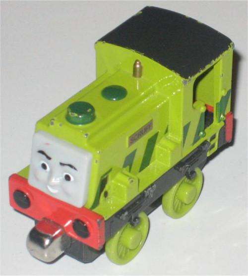 Thomas The Tank Engine Gullane (2009) Scruff - Mattel (Magnetic Metal Die-Cast)