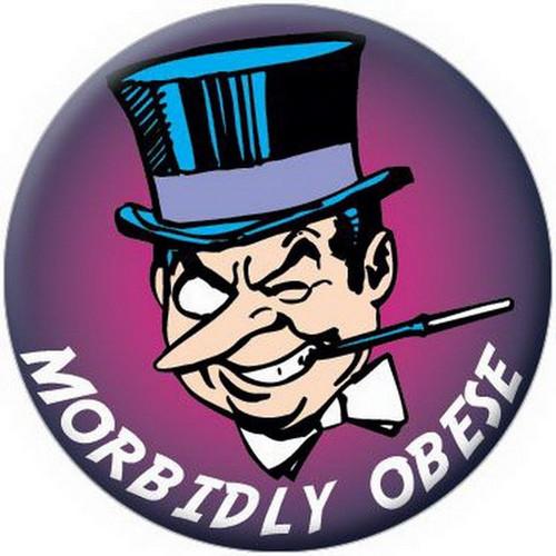 DC Comics Batman Morbidly Obese Penguin Button 81587