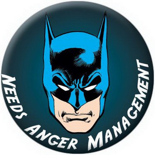 DC Comics Batman Anger Management Button 81590