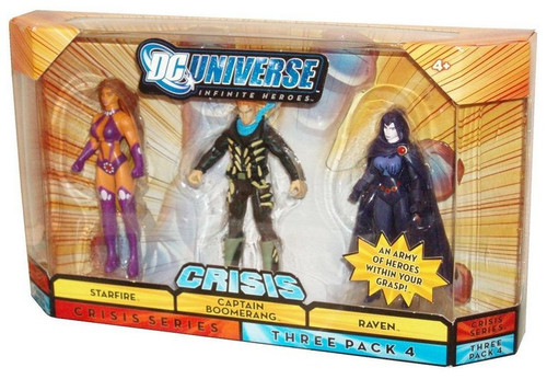DC Universe Infinite Crisis Heroes 3-Pack Figure Set - (Starfire / Boomerang / Raven)