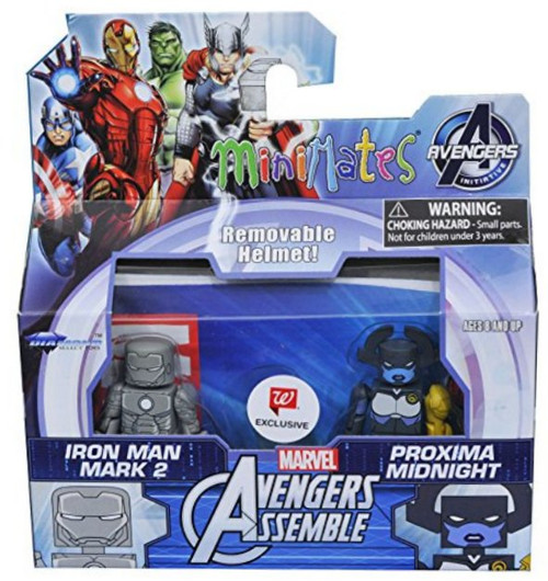 Marvel Minimates Avengers Assemble Figure Set - Iron Man Mark 2 & Proxima Midnight - Animated Series 2-Pack Exclusive