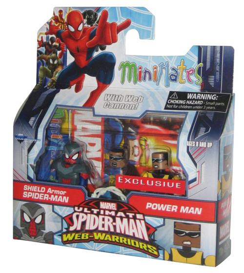 Marvel Minimates Ultimate Spider-Man Shield Armor & Power Man Figure Set