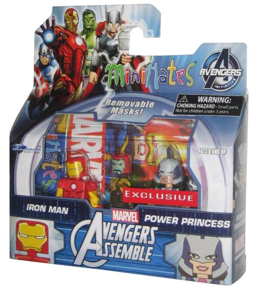 Marvel Minimates Avengers Assemble Iron Man & Power Princess Figure Set