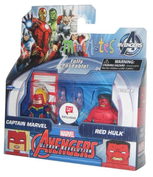 Marvel Minimates Avengers Red Hulk & Captain Marvel Figure Set - Walgreens Exclusive