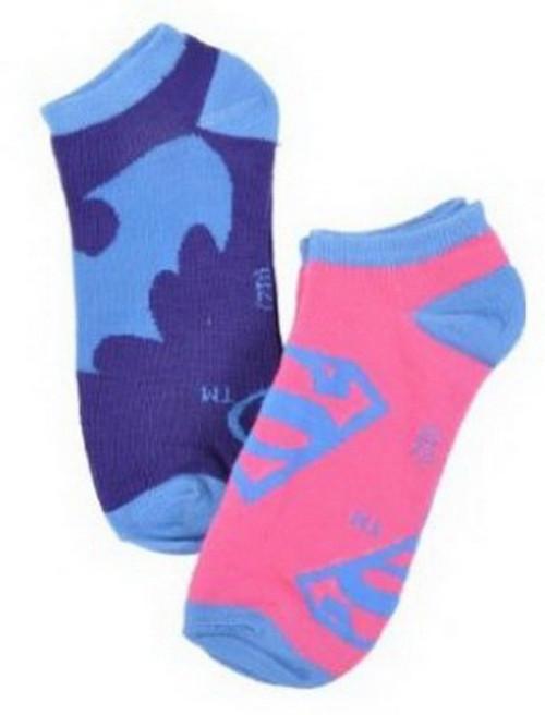Super Girl & Bat Girl Ankle Socks GLBTM6
