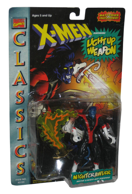 Marvel Comics X-Men Classics Nightcrawler Light-Up Weapon Toy Biz Figure