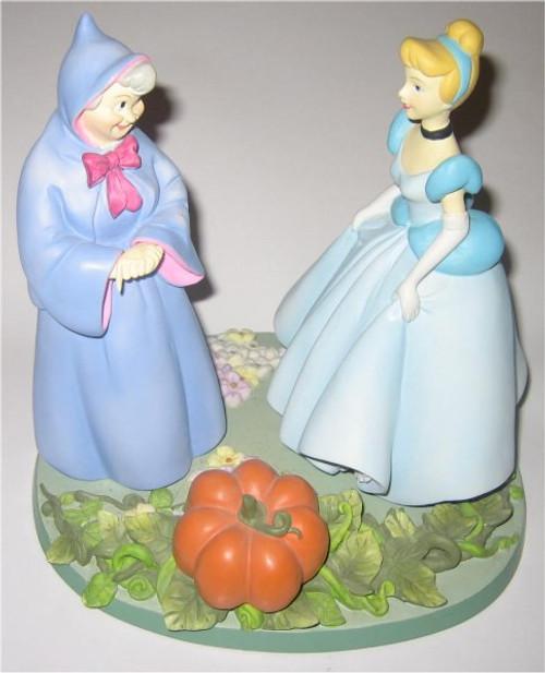 Disney Parks Animated Classics Cinderella & Fairy Godmother Rare Statue Figure