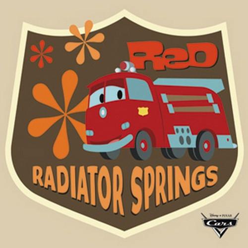 Disney Cars Radiator Springs Button B-DIS-0305