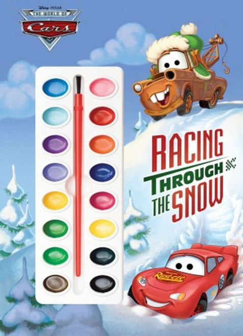 Disney Cars Racing Through The Snow Paint Book