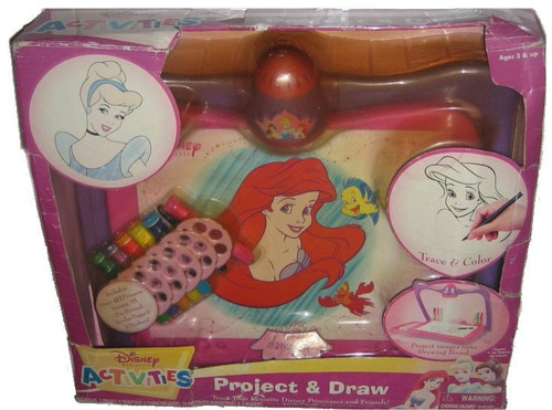 Disney Princess The Little Mermaid Project & Draw Trace Color Vintage Toy Play Set