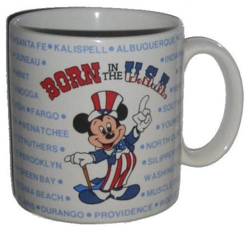 Disney Mickey Mouse Born In The USA Patriotic Applause (1986) Vintage Coffee Mug