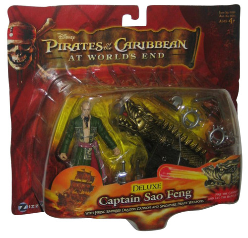 Pirates of The Carribean Worlds End Deluxe Captain Sao Feng Zizzle Figure w/ Cannon
