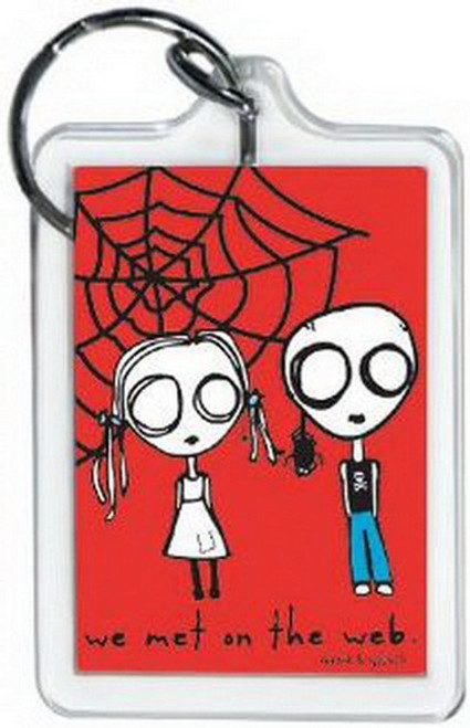 David and Goliath Met On Web Lucite Keychain 65483KEY