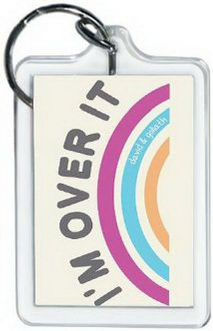 David and Goliath Over It Lucite Keychain 65498KEY