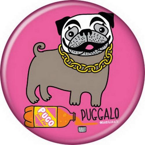 David and Goliath Puggalo Button 82045
