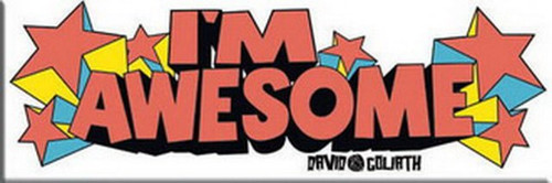 David and Goliath I'm Awesome Magnet 60024LDG