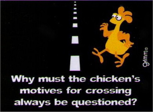 Chickens Motives Crossing Magnet GM2674
