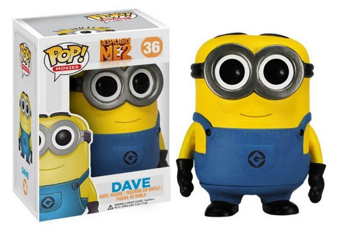Despicable Me 2 Dave Minion POP Vinyl Funko Figure 33716