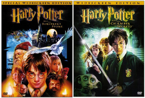 Harry Potter The Sorcerer's Stone / Chamber of Secrets DVD Box Set Lot - (Widescreen)