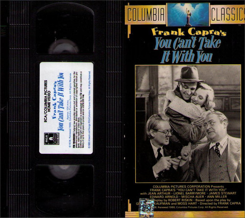 You Can't Take It With You (1938) Vintage VHS Tape - (James Stewart)